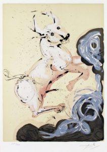 Salvador Dali ; ses peintures des signes du zodiaque : Le Taureau a un caractère fixe. Chez lui, les valeurs diurnes du concret, du matériel et du réel l'emportent sur les valeurs nocturnes de l'inconscient et de l'imaginaire. Le Taureau est un être sociable, chaleureux, aimable, sain et bienveillant. C'est aussi l'amant le plus caressant du zodiaque